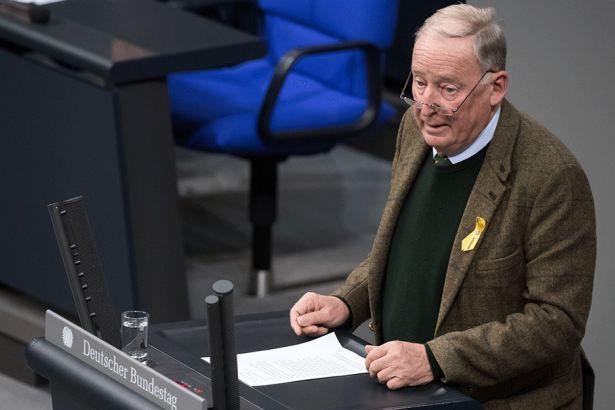 Alexander Gauland (76, AfD) bei einer Rede im Bundestag am 22. November.