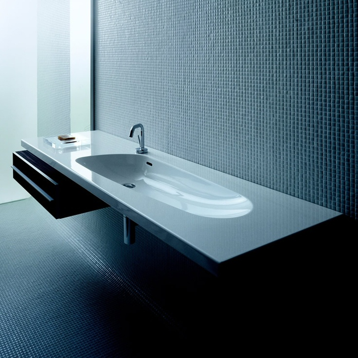 Wish I had this when mine were babies. ...The Palomba Basin by Laufen is a chic and contemporary addition to the bathroom.
