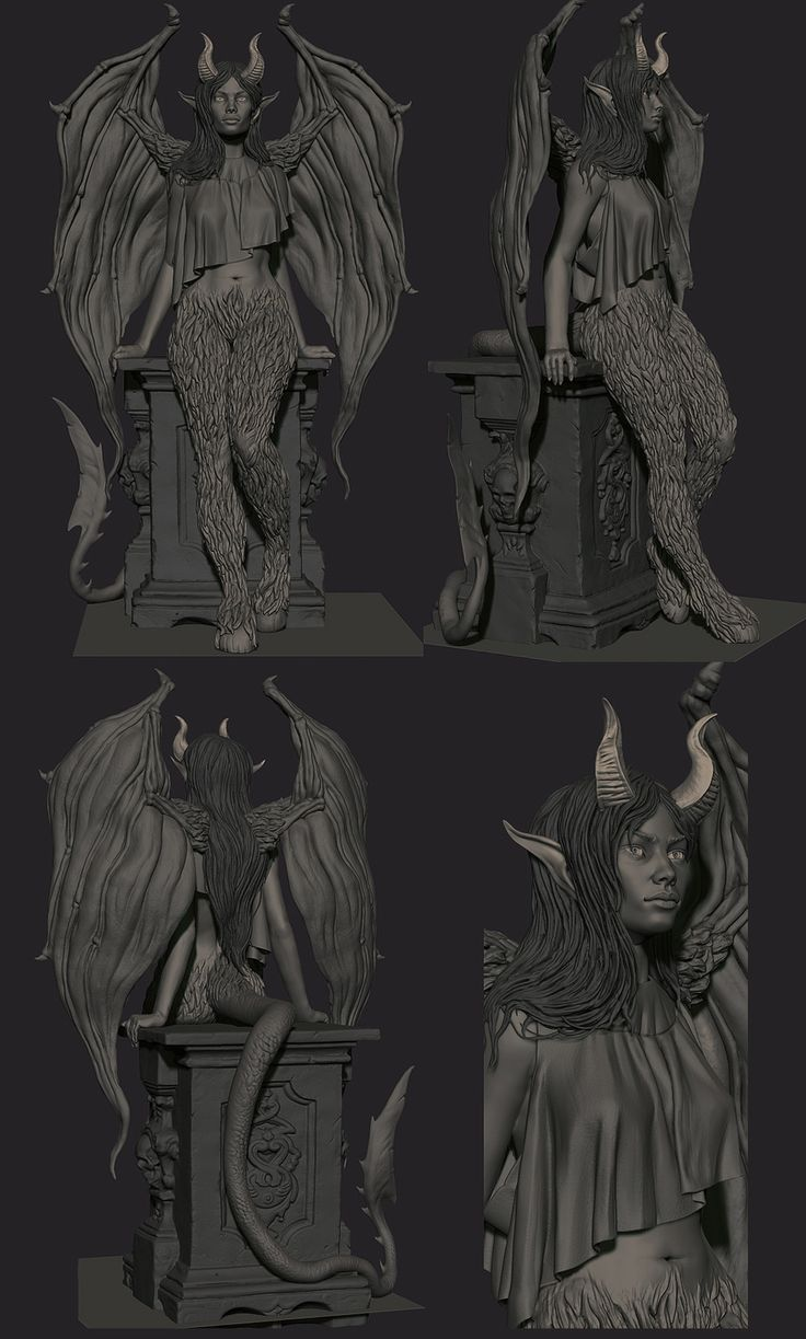 Succubus Sculpt by Sam King | Creatures | 3D | CGSociety