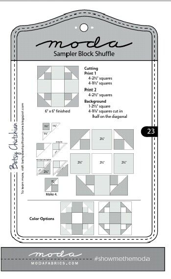 Moda Sampler Block Shuffle  -  Block # 23