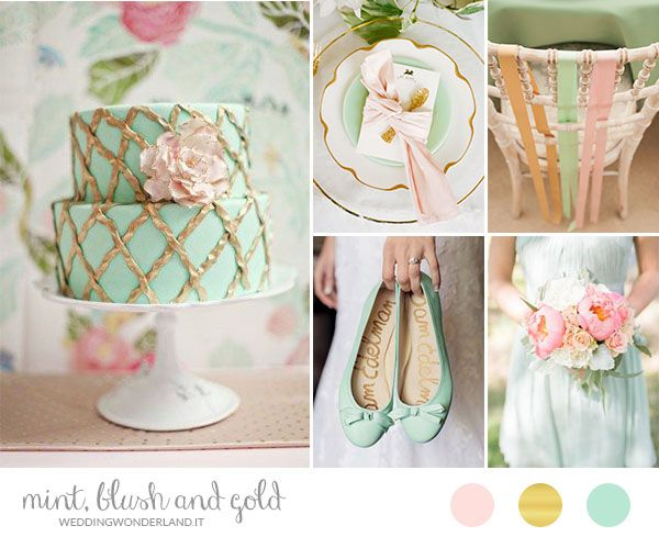 mint, pink and gold wedding inspiration