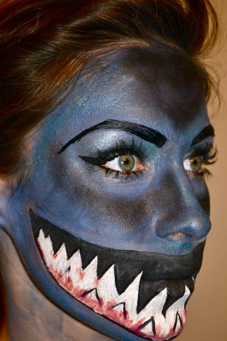 Shark Makeup by Sarah Muncaster.