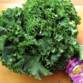 Kale Chips...click the link...watch the vid. Great by itself or with some hummus, be careful, its a little fragile. Not a sturdy as a chip, and go ahead and limit that salt while your at it, try some other seasonings to liven things up.