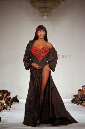 Most people forget that Naomi Campbell did a few stints on the Victoria's Secret catwalk in the midst of her bustling career. Naomi actually opened one of the brand's first fashion shows back in February 1996 when the then-catalog company showcased its spring lingerie collection in New York City.