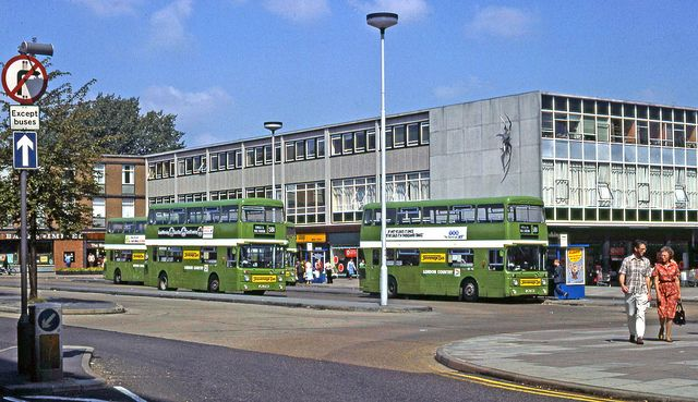 Stevenage Bus Station, 1980 by Lost-Albion, via Flickr
