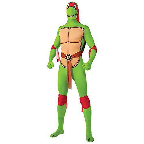 Rubies 2nd Skin Teenage Mutant Ninja Turtle Costume (Raphael) - X-Large @ niftywarehouse.com #NiftyWarehouse #Halloween #Scary #Fun #Ideas
