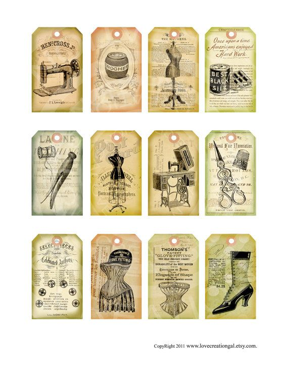 Vintage tags. Why don't we make them like this any more?