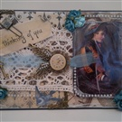 A steam punk style occasional card made with bit's and pieces of broken jewellery and other ephemera.So cool, right?, check out more of our amazing handmade cards at https://www.profiletree.com/kim-oliver , repin if you liked it,   #gifts, #cards, #personalized, #Easter, #handmade, #crafts, #anniversary, #loveyou, #stitched, #colors, #funny, #cute, #amazing, #sales, #deals, #christmascards, #birthday, #repin, #nice, #giftideas, #christmasgifts, #christmas, #occasion, #memory,