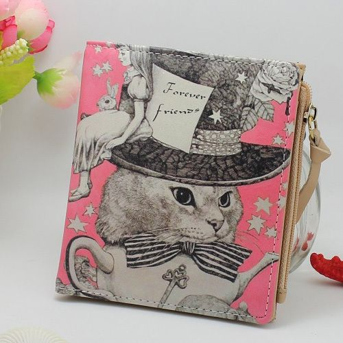 New Japan and Korean Style Women Wallet Animal Prints Girls Short Wallets Fashion Sweet Zipper Change Purse Delicate Cash Purse #wallet #purse #clutch