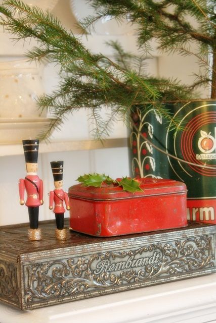 Decorazioni natalizie in stile vintage