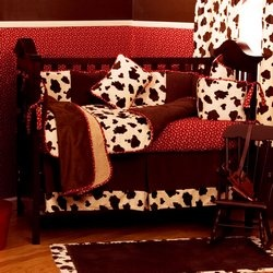 Solid Red Baby Crib Bedding And Nursery