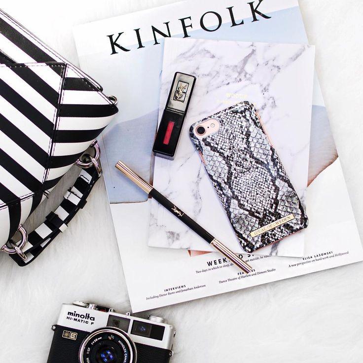 Python by lovely @elizabethpham - Fashion case phone cases iphone inspiration iDeal of Sweden #snake #carrara #gold #fashion #inspo #iphone