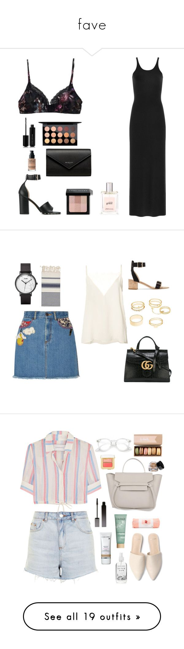 """""""fave"""" by florafow ❤ liked on Polyvore featuring Samantha Chang, T By Alexander Wang, Valentino, Balenciaga, Marc Jacobs, MAC Cosmetics, MAKE UP FOR EVER, Bobbi Brown Cosmetics, philosophy and Anine Bing"""