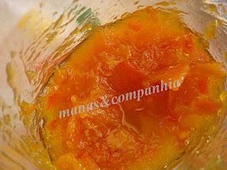 Compota de cenoura e cascas de laranja (bimby)