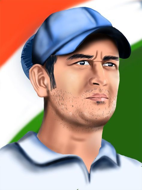 How to Draw Mahendra Singh Dhoni - DrawingTutorials101.com