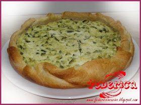 Tortina semplice e delicata ingredienti: 1 rotolo di pasta sfoglia 5 zucchine piccole 150 gr di ricotta 2 cucchiai di parmigiano 1 uovo...