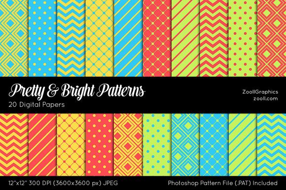 Pretty And Bright Digital Papers by ZoollGraphics on Creative Market