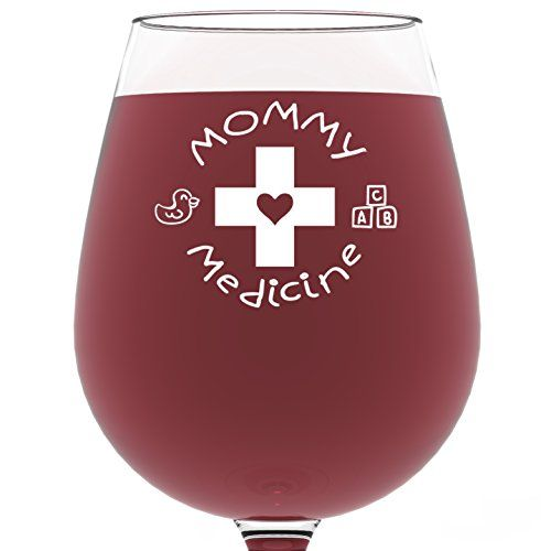 Mommy Medicine Funny Wine Glass 13 oz - Perfect Birthday Gift for Women - Unique Novelty Gifts for Her - Cool Humorous Present Idea For Mom, Wife, Girlfriend, Daughter, Sister, Friend Got Me Tipsy http://smile.amazon.com/dp/B017QREKU0/ref=cm_sw_r_pi_dp_7nG1wb1FZ97VC