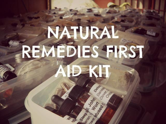 Natural Remedies First Aid Kit Checklist | #homeremedies #firstaid #checklist
