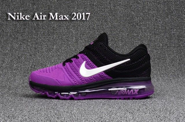 Women's Nike Air Max 2017 KPU Purple Black White 849559 010