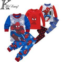 2-7 yrs boys&girls pijamas spiderman cotton children pyjamas sleepwear baby kids pajama set spider man toddler boy clothes set #>=#>=#>=#>=#> Click on the pin to check out discount price, color, size, shipping, etc. Save and like it!