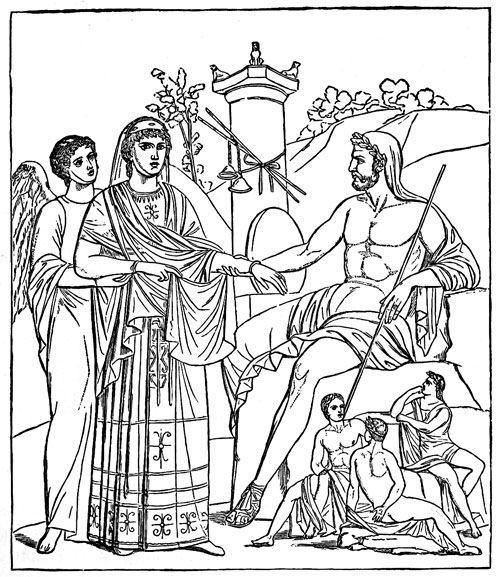 Ancient Greek Gods - Kronos and Rhea