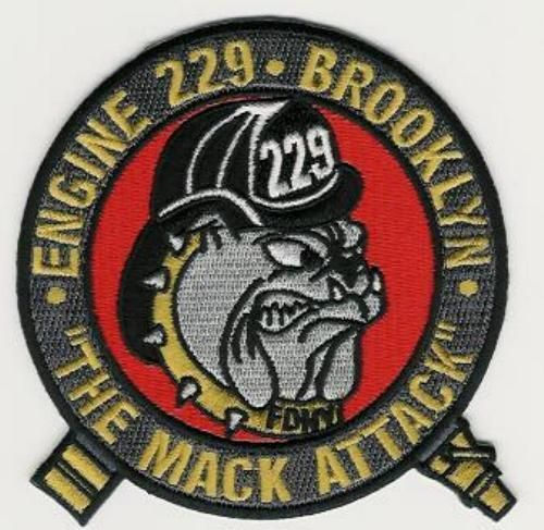 FDNY Engine 229 fire department patch The Mack Attack VERY RARE