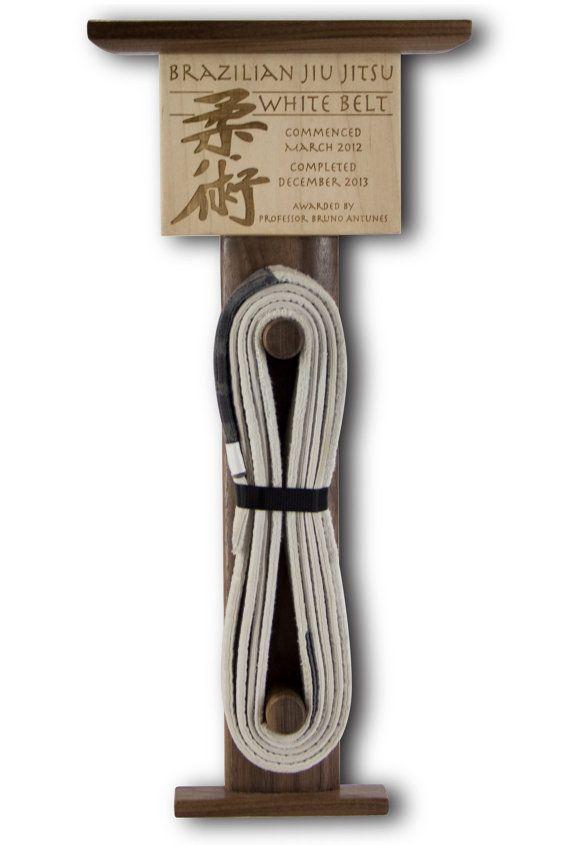 Brazilian Jiu Jitsu Belt Display Custom by RollDesignStudio