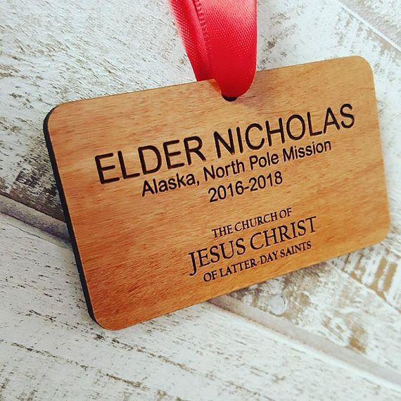 LDS Missionary Name Tag Christmas Ornament  OR_MTAG
