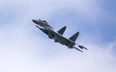 Scarica sfondi Su-35, i caccia russi, aeronautica militare, dell'aeronautica russa, combattenti moderni