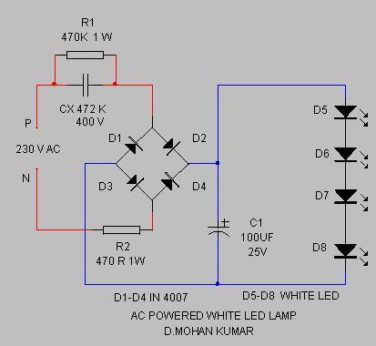 mains powered white led lamp circuit diagram wire data schema u2022 rh 45 63 49 3