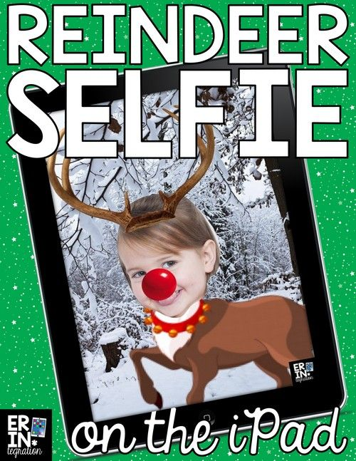 "Christmas iPad Activity on Pic Collage! Follow these FREE directions to use the free app Pic Collage to ""reindeer yourself."" Use as a writing prompt, make digital Christmas cards, or works as a fun companion activity to a class read aloud. via @erintegration"