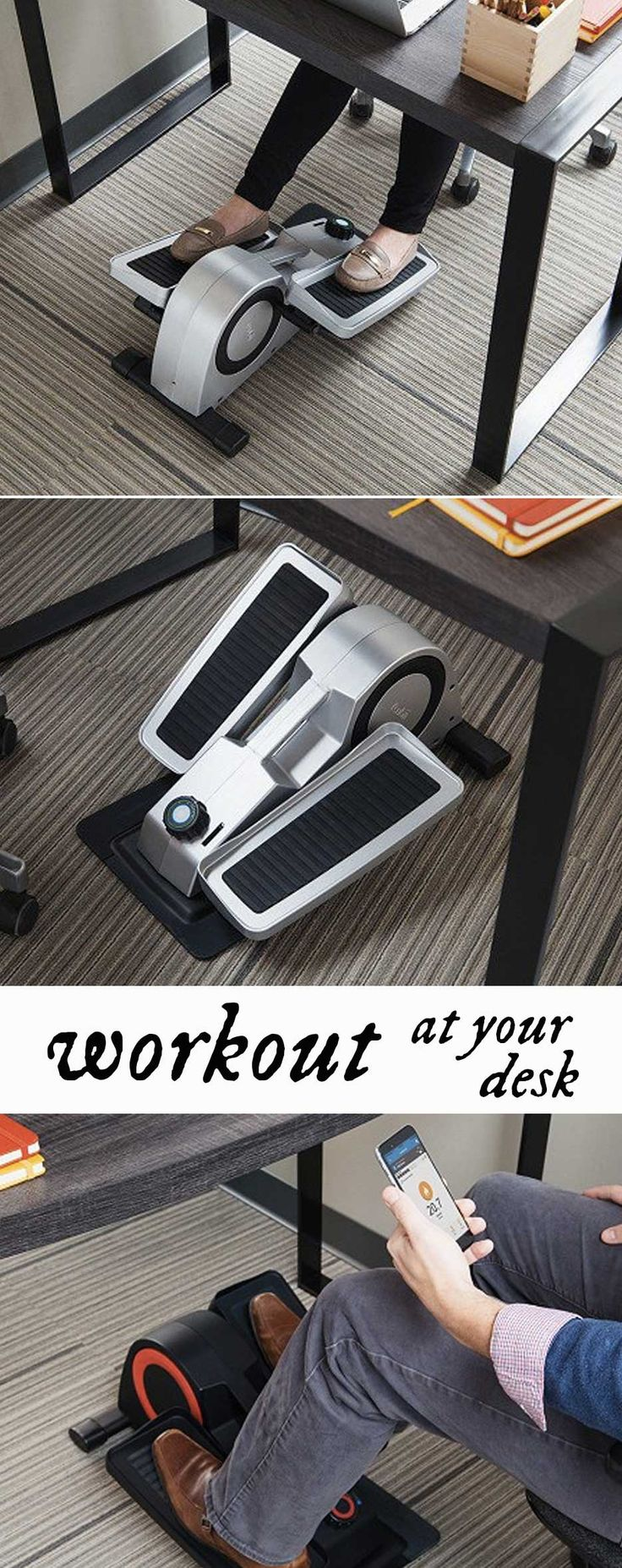 Keep moving even while you're busy at work. This under-desk elliptical lets you pedal as you type, take calls, and whatever other work you need to do while seated.