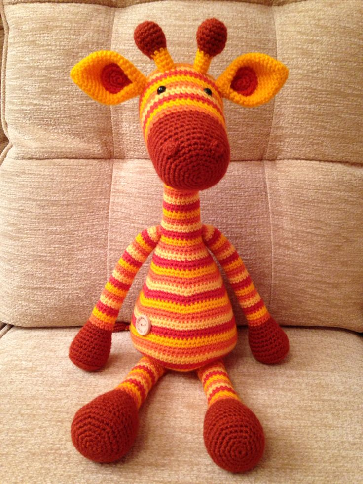Amigurumi Giraffe from a Stip and Haak pattern
