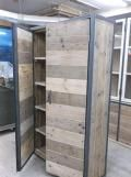 Kast steigerhout / staal | Restoric