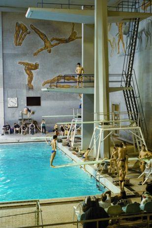 Foro Italico Sports complex, Roma. Free swimming in Mussolini's pool!