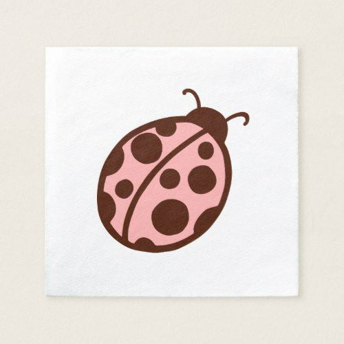 Pink Ladybug Party Napkins