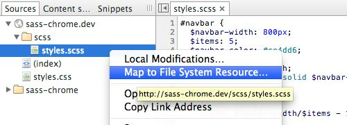 Editing CSS-Preprocessor in Google Chrome