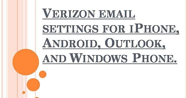 Verizon email help setting up your Verizon email account in