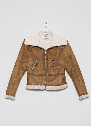 Kup mój przedmiot na #vintedpl http://www.vinted.pl/damska-odziez/kurtki/12366787-kurtka-pilotka-kozuszek-kozuch-bershka-nowa-ocieplana-sm