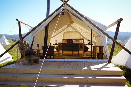 Yellowstone Under Canvas Safari Tents and Tipis #honeymoon #glamping