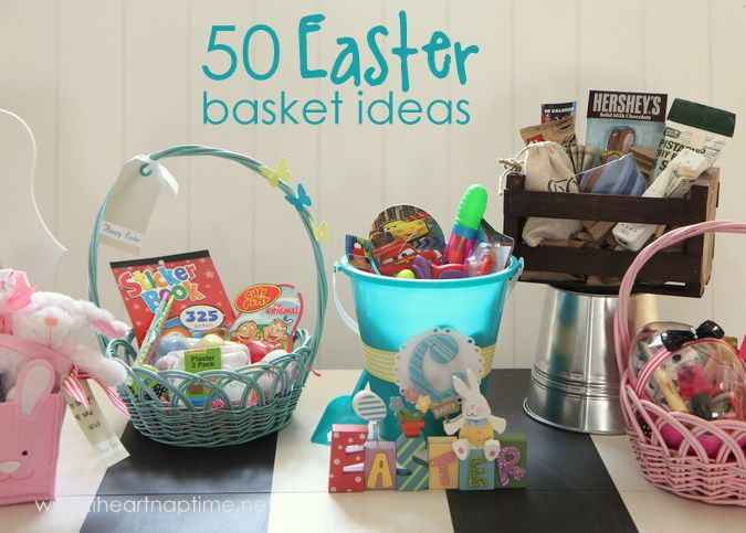 50 Easter Basket Ideas (in case you have to wait till the last minute because you know your kids are searching for proof that the easter bunny is a fraud like me ;p)