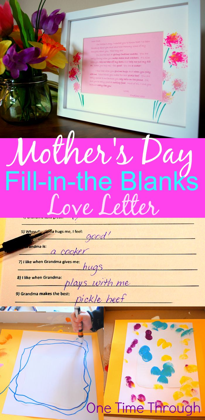 Help Your Preschooler Quot Write Quot A Love Letter To Grandma Mothers Gifts And Mom