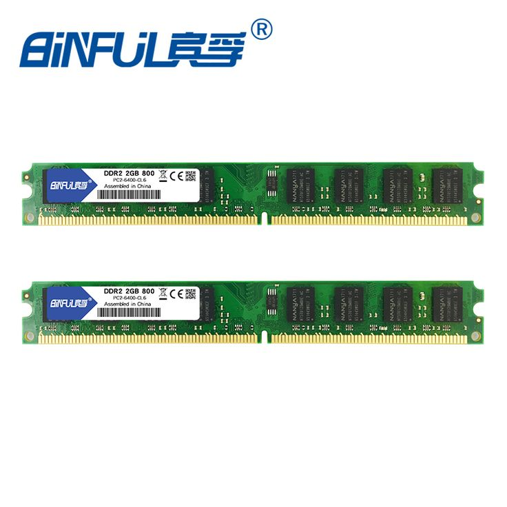 Kit of 2 KVR800D2N6 2G DDR2 800MHz 2GB X 2 Super Speed Memoria Ram for All. Click visit to buy