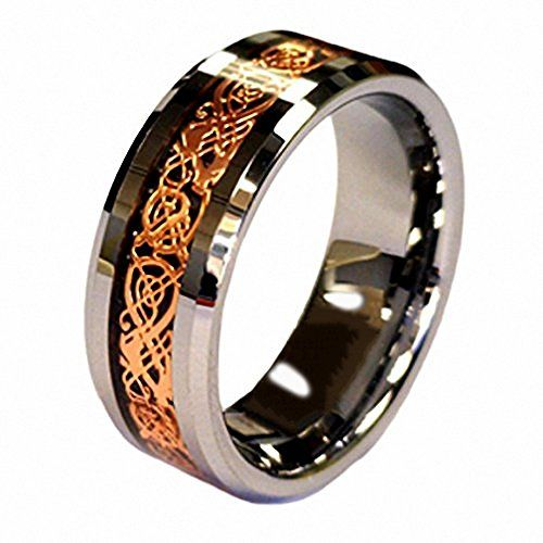 18K Rose Gold Plated Celtic Dragon 8mm Tungsten Carbide Wedding Band Ring in Ring Box Size 6 Gnex http://www.amazon.com/dp/B0104N6UF6/ref=cm_sw_r_pi_dp_22Ybwb0RNFJTD