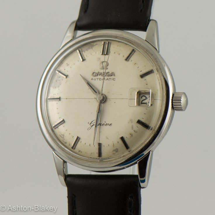 OMEGA AUTOMATIC- Geneve, stainlesss steel with date. information coming - Circa 1950