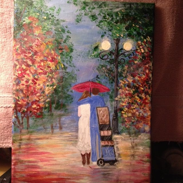 A special painting for a young couples wedding gift that loves the Witness cart work; 11-11-16.