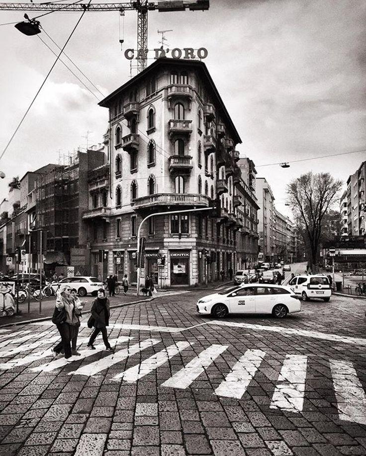 Street. Milan, Italy. #blackandwhite #photography #milan #perspective #milano #italy #italia #atmosphere #italianlife #italianstyle #bn #bw #bnw #the_bestbw #bestshot #bestphoto #bestoftheday #lights #shadows #blackandwhitephotography  #photooftheday #photoofday  #instagood  #picoftheday #follow #street #archilovers #architecture #architettura in #blackandwhite #photography in phlow