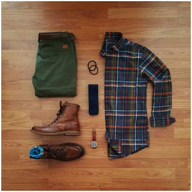 outfit grid When you have a pair of earthy coloured pants. Business Casual Outfits, Casual Fall Outfits, Men Casual, Simple Outfits, Outfit Essentials, Tall Men Fashion, Mens Boots Fashion, Fashion Fashion, Fashion Ideas