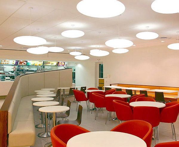 New McDonald Restaurant Redesign With Eating Experience For The Costumer Fantastic Design House Products Dining Area Red Chairs And Wh